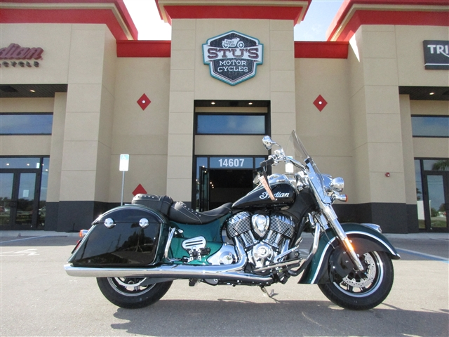 2018 Indian Springfield Metallic Jade / Thunder Black at Stu's Motorcycles, Fort Myers, FL 33912