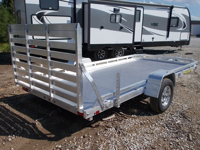 2021 Aluma Single Heavy Axle Utility Trailers 7814ST at Nishna Valley Cycle, Atlantic, IA 50022
