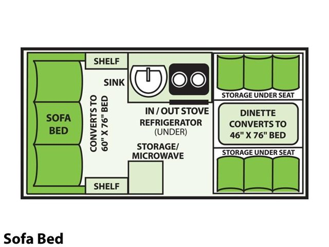 2022 Aliner Classic Sofa Bed at Prosser's Premium RV Outlet
