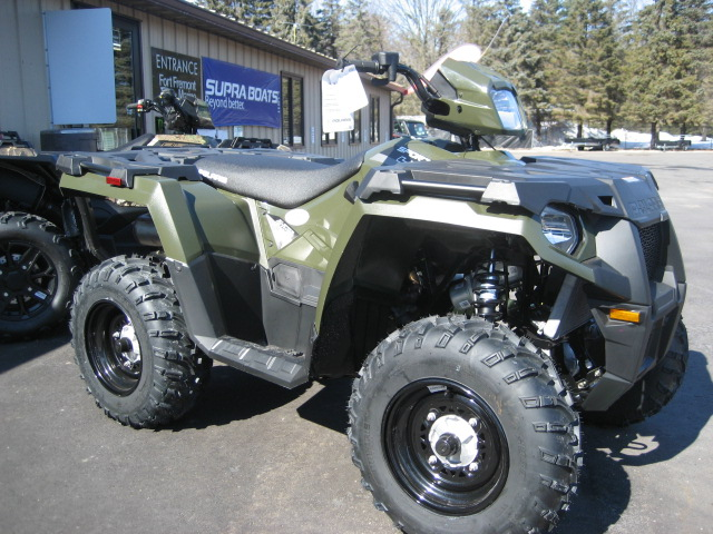 2020 Polaris 450 HO Sportsman-green at Fort Fremont Marine