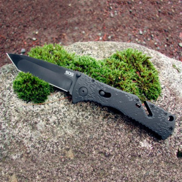 2019 SOG Trident Black Tanto at Harsh Outdoors, Eaton, CO 80615