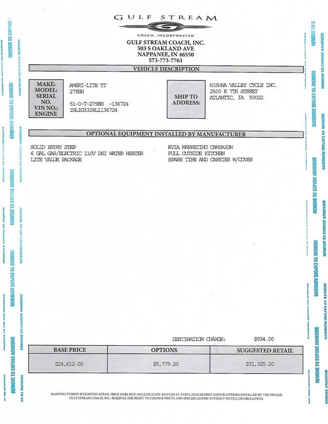 2020 Gulf Stream Ameri-Lite Ultra Lite 279BH at Nishna Valley Cycle, Atlantic, IA 50022