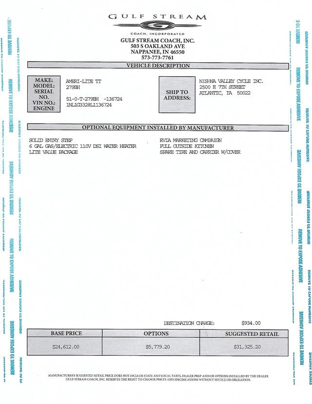 2020 Gulf Stream Ameri-Lite 279BH at Nishna Valley Cycle, Atlantic, IA 50022