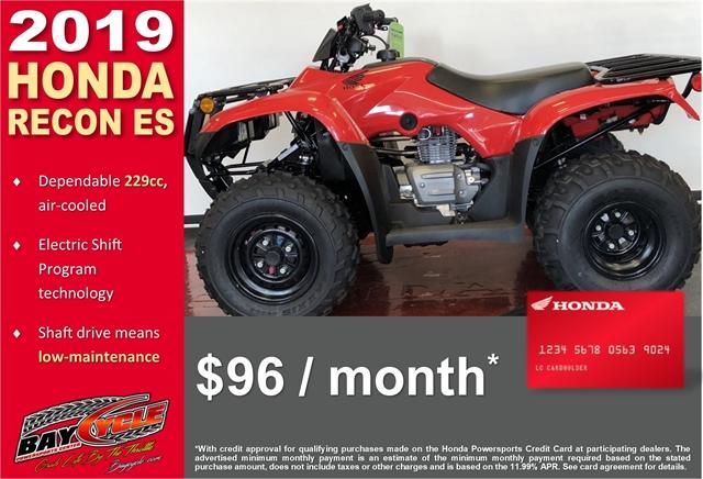 2019 Honda Recon ES ES at Bay Cycle Sales