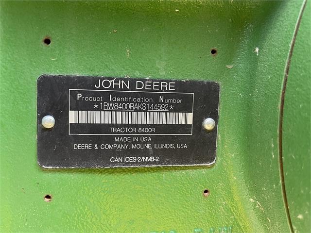 2019 John Deere 8400R at Keating Tractor