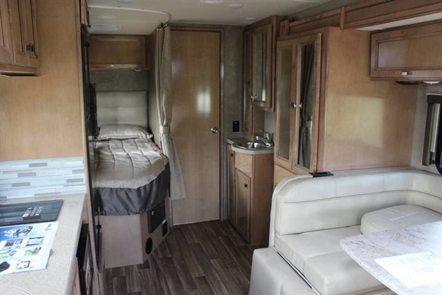2019 Thor Motor Coach Synergy Sprinter 24SJ Rear Bedroom at Campers RV Center, Shreveport, LA 71129