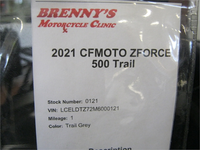 2021 CFMOTO ZFORCE 500 Trail at Brenny's Motorcycle Clinic, Bettendorf, IA 52722