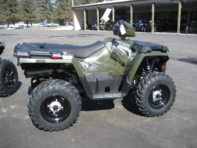 2020 Polaris 450 HO EPS Sportsman-Sage Green at Fort Fremont Marine