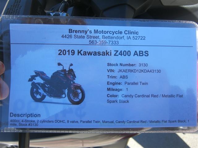 2019 Kawasaki Z400 ABS at Brenny's Motorcycle Clinic, Bettendorf, IA 52722
