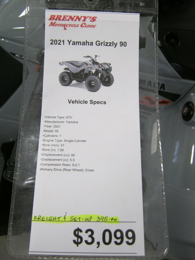 2021 Yamaha Grizzly 90 at Brenny's Motorcycle Clinic, Bettendorf, IA 52722