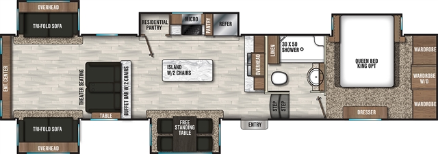 2020 Coachmen Chaparral 381RD Rear Living at Campers RV Center, Shreveport, LA 71129
