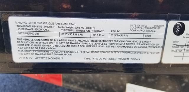 2016 LOAD TRAIL LOW PRO TILT 83X22 at Star City Motor Sports