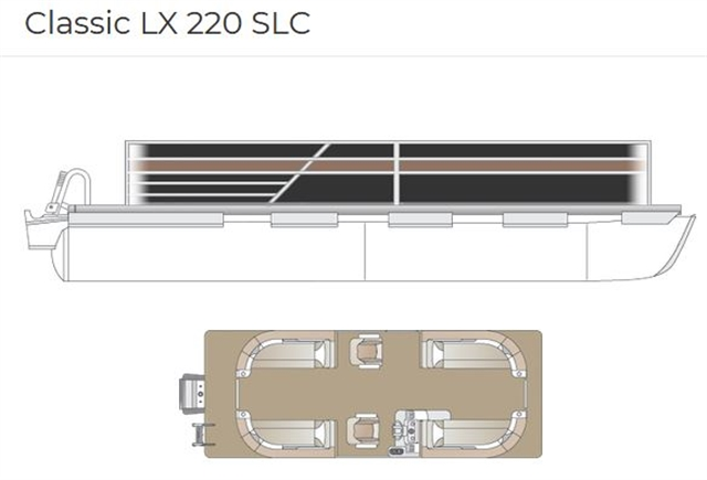 2021 Crest Classic LX 220 SLC triple-toon at Fort Fremont Marine