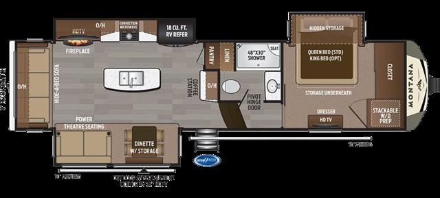 2019 Keystone Montana 3121RL 3121RL at Campers RV Center, Shreveport, LA 71129