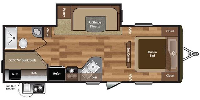 2018 Keystone Hideout 242LHS Bunk Beds at Campers RV Center, Shreveport, LA 71129