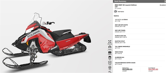 2021 Polaris 650 Indy XC 137 Launch Edition at Fort Fremont Marine