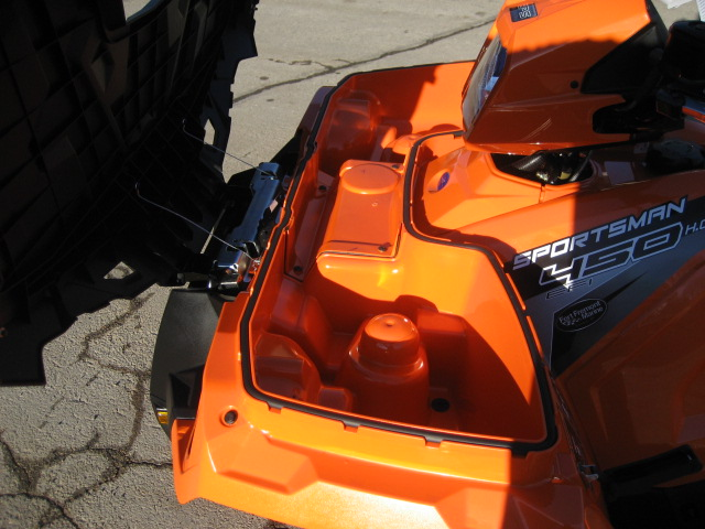 2019 Polaris Sportsman 450 HO Orange Burst at Fort Fremont Marine, Fremont, WI 54940