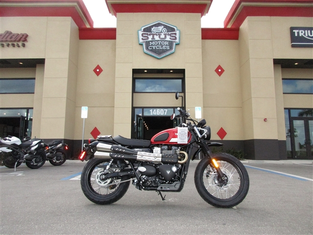 2018 Triumph Street Scrambler Korosi Red / Frozen Silver at Stu's Motorcycles, Fort Myers, FL 33912
