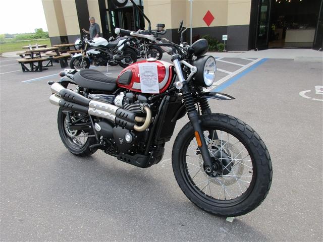2018 Triumph Street Scrambler Korosi Red / Frozen Silver at Stu's Motorcycles, Fort Myers, FL 33912