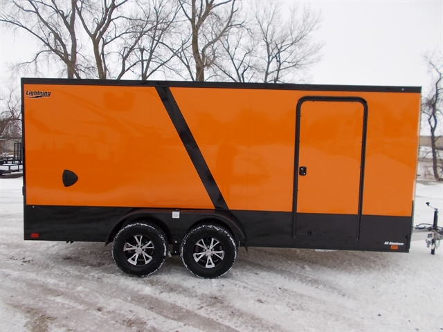 2020 Lightning Trailers 7' Wide Flat Top LTF716TA2 at Nishna Valley Cycle, Atlantic, IA 50022