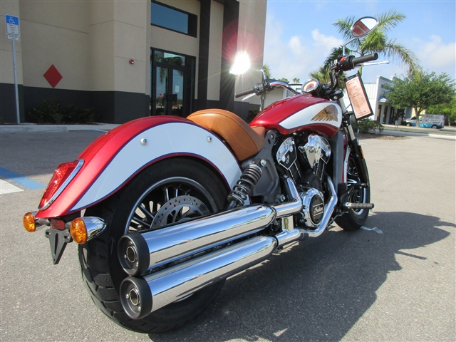 2019 Indian Scout ABS ICON Ruby Red / Pearl White at Stu's Motorcycles, Fort Myers, FL 33912