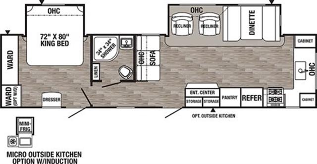 2020 Palomino Puma 31FKRK Front Kitchen at Campers RV Center, Shreveport, LA 71129