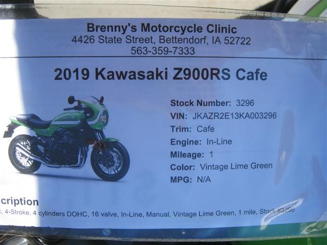 2019 Kawasaki Z900RS Cafe at Brenny's Motorcycle Clinic, Bettendorf, IA 52722