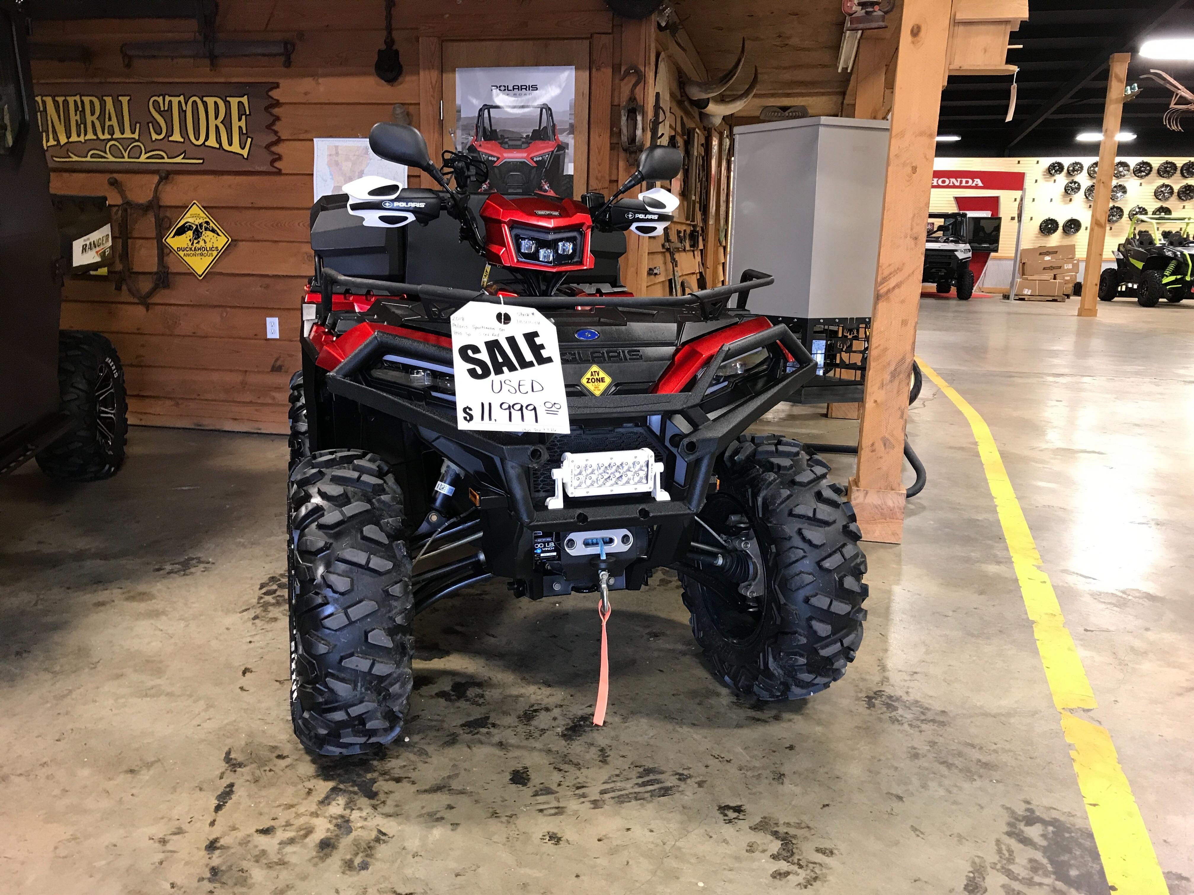 2018 Polaris SPORTSMAN 850 SP Base at ATV Zone, LLC