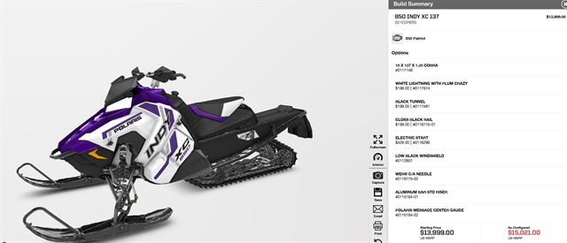 2021 Polaris 850 Indy XC 137 AXYS at Fort Fremont Marine