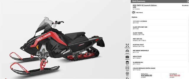2021 Polaris 650 Indy XC 129 Launch Edition at Fort Fremont Marine