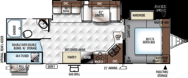 2019 Forest River Rockwood Ultra Lite 2706WS Bunk Beds at Campers RV Center, Shreveport, LA 71129