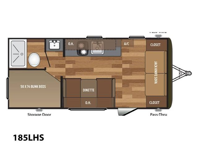 2018 Keystone RV Hideout Single Axle 185LHS Bunk Beds at Campers RV Center, Shreveport, LA 71129