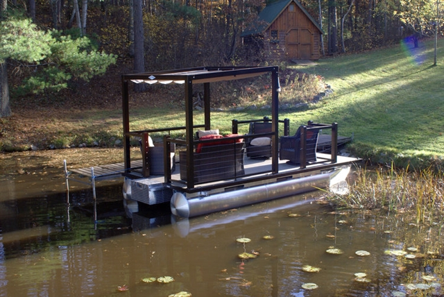 2018 Lake Lounger 18' Cruise w/Power Top-Bronze at Fort Fremont Marine Redesign