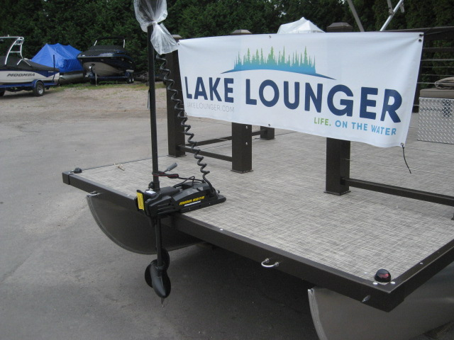 2018 Lake Lounger 18' Cruise w/Power Top-Bronze at Fort Fremont Marine