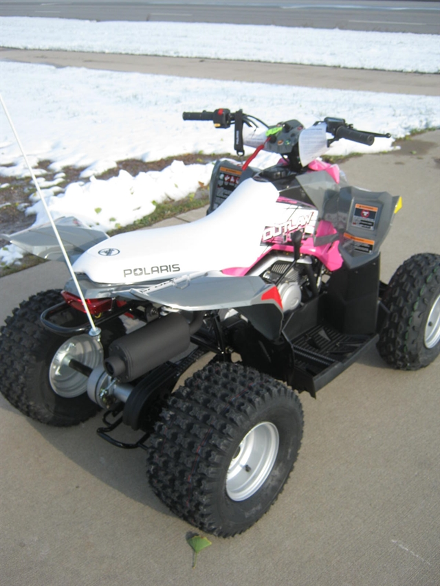 2020 Polaris Outlaw 110 Gray W/pink at Brenny's Motorcycle Clinic, Bettendorf, IA 52722