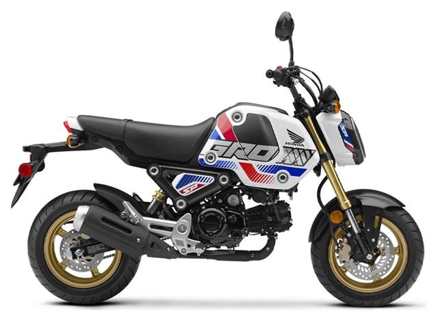 2022 Honda GROM Pearl White Base at Martin Moto